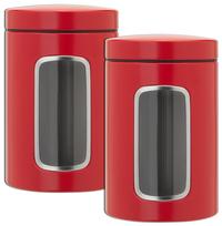 Brabantia 2 boîtes à provisions 1,4 l rouge