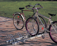 Mottez fietsenrek voor 5 fietsen-Vooraanzicht