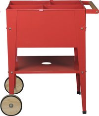 Table de culture Wheels rouge 60 x 60 cm