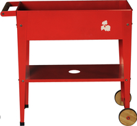 Table de culture Trolley 75 x 35 cm rouge-Avant