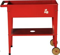 Table de culture Trolley 75 x 35 cm rouge