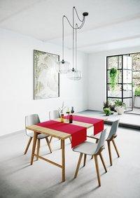 Mistral Home Tafelloper Uniline rood L 140 x B 45 cm - 2 stuks-Afbeelding 4
