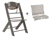 Treppy Chaise haute avec coussin réducteur gratuit gris-Avant