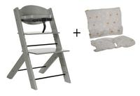 Treppy Chaise haute avec coussin réducteur gratuit woody gray-Avant