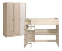 Chambre 2 éléments Maxime avec lit surélévé