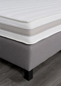 Boxspring fixe Winston tissu d'ameublement gris clair 160 x 200 cm-Détail de l'article
