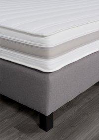 Vaste boxspring Winston meubelstof lichtgrijs 180 x 200 cm-Artikeldetail