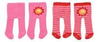 Dolly Moda set de vêtements 2 paires de collants fleur-Avant