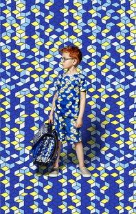 Kangourou boekentas Cubes 44 cm-Afbeelding 1