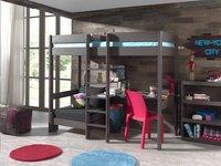 Hoogslaper/bureau met zetelbed Pino taupe-Afbeelding 1