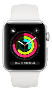 Apple Watch Series 3 42mm zilver-Vooraanzicht