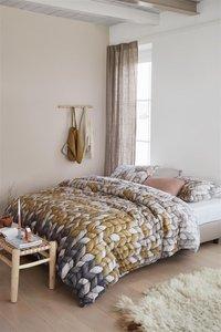 Ariadne at Home Housse de couette Warmly ochre coton 140 x 220 cm-Image 2