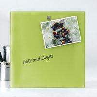 Naga glazen memobord 45 x 45 cm lime-Afbeelding 1