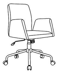 Demeyere Meubles Bureaustoel Square zwart-product 3d drawing