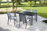 Jati & Kebon table de jardin Djerba noir/anthracite 160 x 90 cm-Détail de l'article
