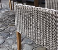 Fauteuil de jardin Malaga brun/teck-Image 3