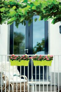 Elho jardinière Corsica Easy hanger trio lime-Image 1