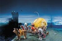 Playmobil Knights 6005 Chevaliers de l'Aigle avec charrette piégée-Image 1