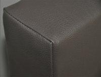 Boxspring fixe Farao aspect cuir taupe-Détail de l'article
