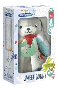 baby Clementoni Doudou Sweet Bunny 29 cm-Côté gauche