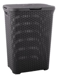 Curver corbeille à linge Natural 60 l anthracite