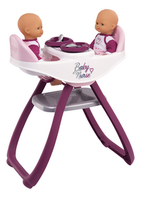 Smoby chaise haute jumeaux 2 en 1 Baby Nurse blanc-commercieel beeld