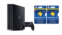 Sony console Playstation 4 Pro 1 To + Plus abonnement 12 mois FR/NL