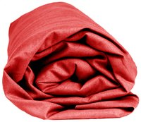Sleepnight drap-housse rouge en jersey de coton 180 x 200 cm-Détail de l'article