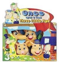 Set van 4 poppenkastpoppen De 3 Biggetjes