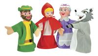 Set de 4 marionnettes Le Petit Chaperon Rouge-Avant