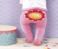 Dolly Moda set de vêtements 2 paires de collants fleur-Image 1