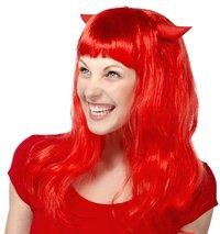 Perruque de diablesse longue rouge