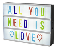 Lettres colorées pour lightbox