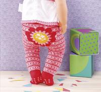 Dolly Moda set de vêtements 2 paires de collants fleur-Image 2