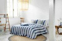 Walra Dekbedovertrek Everline blauw katoen 200 x 220 cm-Afbeelding 1