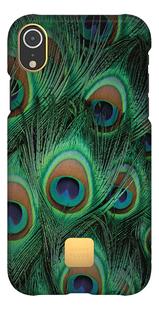 Happy Plugs cover voor iPhone Xr Peacock-Vooraanzicht