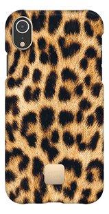 Happy Plugs cover voor iPhone Xr Leopard-Vooraanzicht