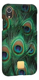 Happy Plugs cover voor iPhone Xr Peacock-Linkerzijde