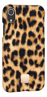 Happy Plugs cover voor iPhone Xr Leopard -Linkerzijde
