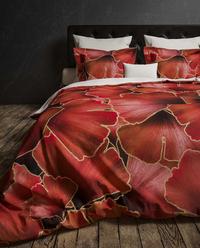 Heckett & Lane Housse de couette Daya Plum Red twill de coton-Image 5