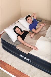 Bestway matelas autogonflant pour 2 personnes Tritech Airbed Queen Gray/Blue-Image 4