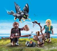 PLAYMOBIL Dragons 70040 Harold et Astrid avec un bébé dragon-Image 1