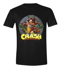 T-shirt Crash Bandicoot zwart L