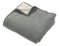 Sole Mio couverture en laine gris/gris clair 180 x 220 cm