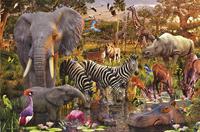 Ravensburger puzzel Afrikaanse dierenwereld-Vooraanzicht