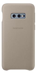 Samsung Leather Cover voor Galaxy S10e grey-Achteraanzicht