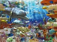 Ravensburger puzzel Onderwater leven-Vooraanzicht
