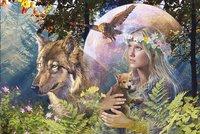 Ravensburger puzzel Wolven in de maneschijn-Vooraanzicht