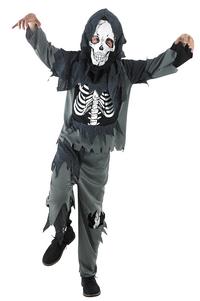 Verkleedpak zombie met skelet op buik