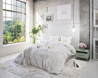 Sleeptime Essentials Dekbedovertrek Live, Love, Laugh 2 microvezel 140 x 220 cm-Afbeelding 1